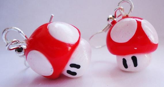 Earrings - Mario Mushrooms