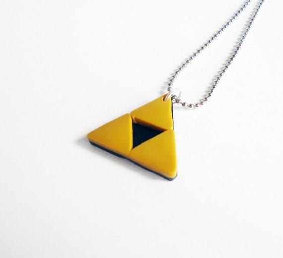 Legend of Zelda - TRIFORCE NECKLACE - gamer jewelry