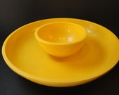 Mid century modern Dansk chip and dip for your minimalist Super Bowl party - Gunnar Cyren melamine