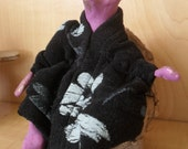 Moo Moo Original Mixed media Art Doll Miniature Fantasy Woodland Fairy