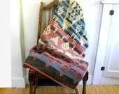 Collectible Camp Blanket / Cotton Beacon Blanket Esmond / Native American Design 1930s