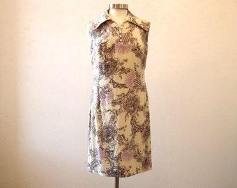 Vintage Floral Dress / Plus Size Size Extra Large - 14 - 16 / European Design