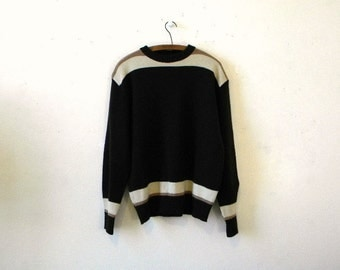 Mens Hipster Clothes / Vintage Ski Sweater / XL