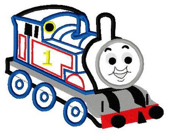 Tank engine thomas applique design instant download