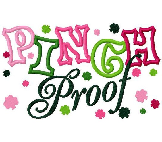 St. patty's day pinch proof embroidery applique design digital instant download