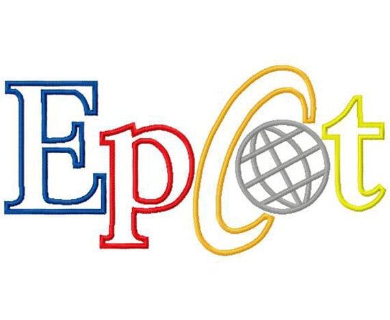 Epkot embroidery applique design instant download