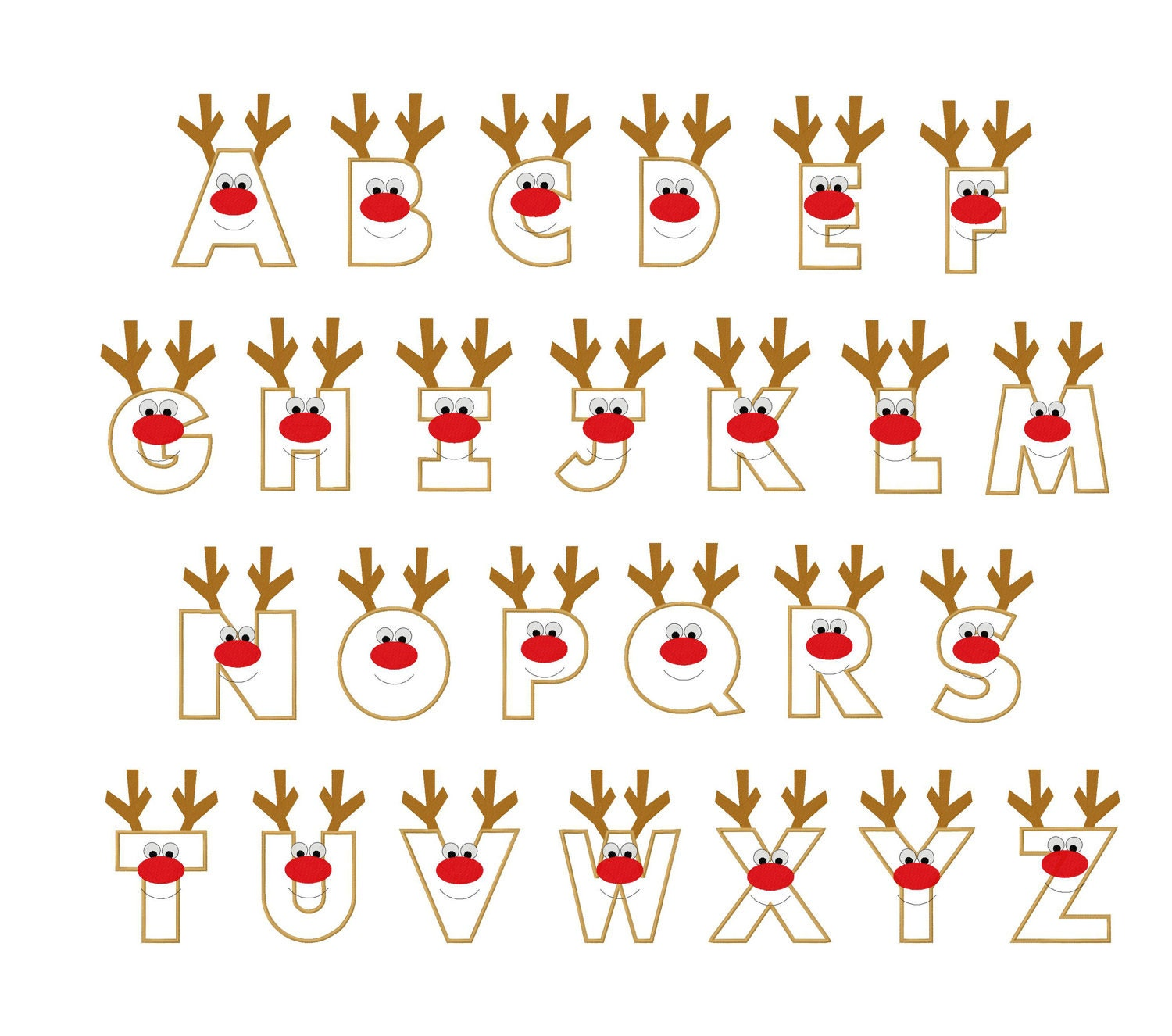 beautiful alphabet letter designs christmas reindeer letters