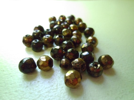 Vintage Faceted Glass Beads