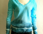 hand-dyed cotton sweater  /  blue ice /