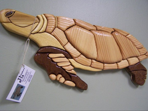 Sea Turtle Wall Art Home Decor Made Of By Flatherscreations