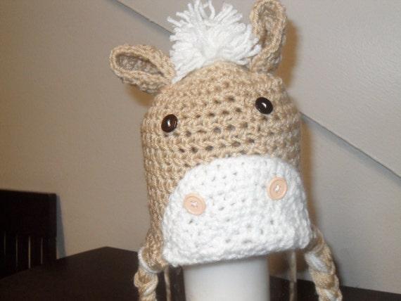 Baby Horse Beanie Size 0-3 months