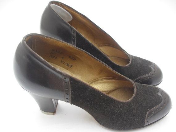 1950s VINTAGE Wedding Shoes US 75 UK 5 Euro 38