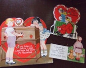 Valentines Lot of 3 Vintage 1930s Cards
