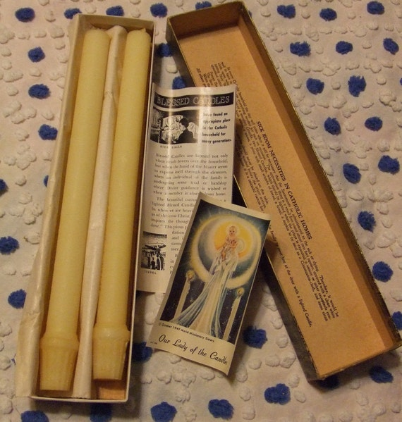 Catholic Blessed Beeswax Candles for Home Use Sacrament of the Sick