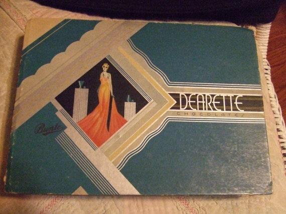 Candy Box Dearette Chocolates Art Deco Graphics