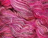 266 Yards of hand dyed, hand spun Shetland wool yarn