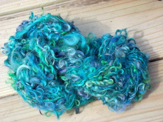 Curly Locks - hand dyed and hand spun