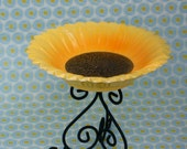 Sunflower and Scrolls Candy Dish
