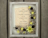 Custom Frame And Quote Shadow Box Floral Arrangement Gift For Mother Custom Bridesmaid gifts Wife Birthday Wedding Christmas Present