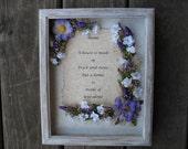Custom 8x10 Oak Wood Picture Frame Silk Flower Arrangement Home Wall Decor Personalized Housewarming Gift