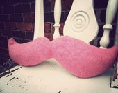 Moustache pillow / cushion  in pink - other colours available
