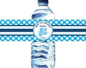 30 Kids Birthday Water Bottle Labels - Printed with your child's name and birthday. Waterproof and self stick