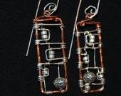 Techno rectangle earrings