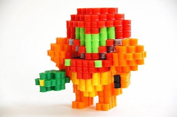 Metroid Samus Perler Beads 3D figure