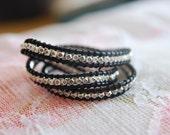 Triple Beaded Wrap Bracelet