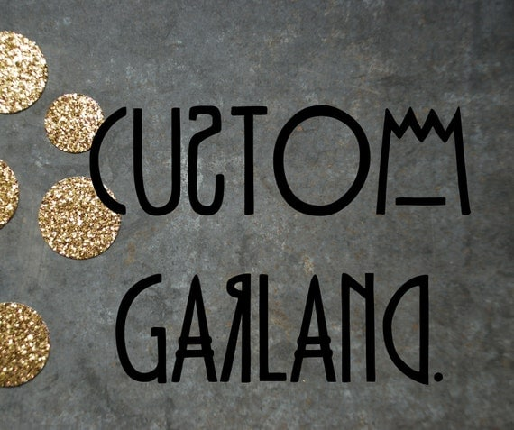 25' Paper & Thread Garland: Custom Order