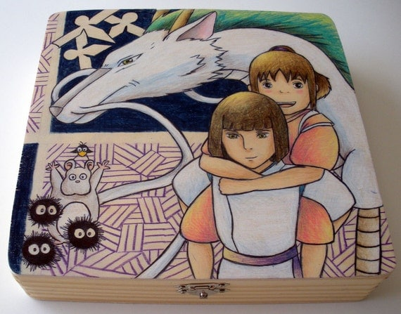 Spirited Away Wooden Box (Made to Order)