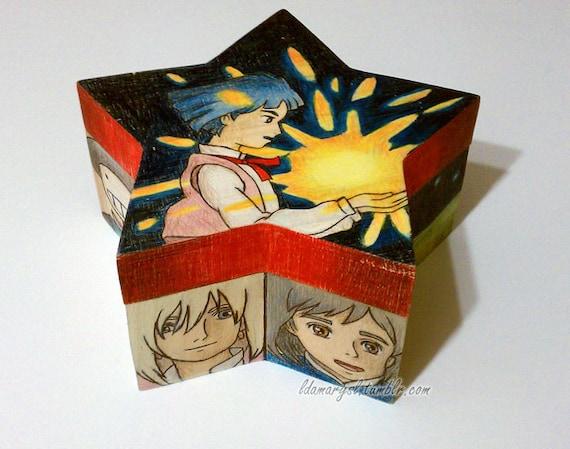 RESERVED for Virginia (GingerGM) Howl's Moving Castle Star Shaped Box