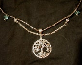 Silver Oak Tree Pendant Necklace