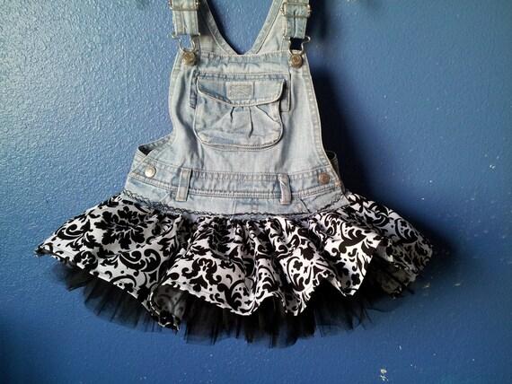 Damask Overall Tutu Skirt