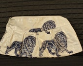 Recycled Rice Bag Purse/Clutch (Lion Design, Thai Writing) from SE Asia - Hand Made