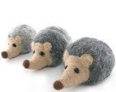 Hedgehog Family Needle Felted Hedgehog Merino Wool Hedgehogs Family Felt Soft Sculpture Animal Ornaments