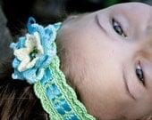 Crochet Tie on Headband with Flower - PDF PATTERN