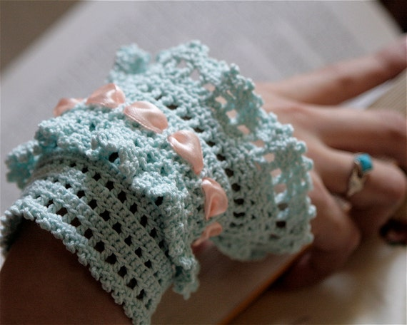 Crochet Layered Lace Cuff - PDF PATTERN