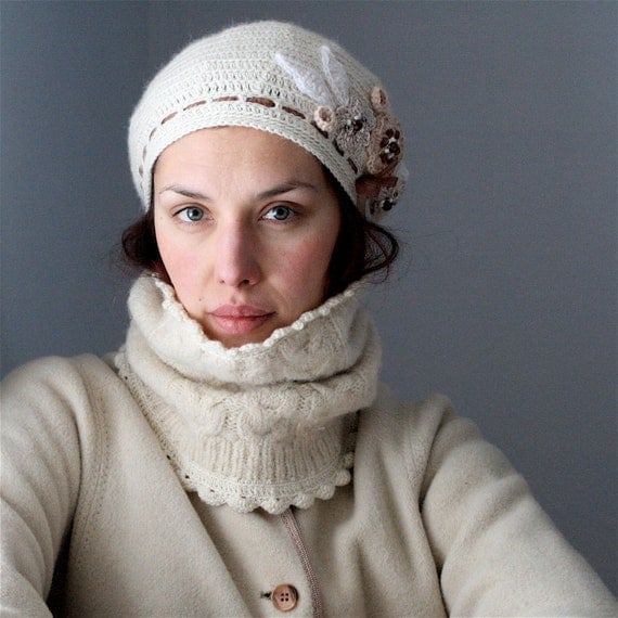 PDF pattern for Crocheted and Embellished Beret