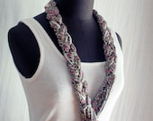 Bohemian belt necklace in cotton - flowers print