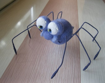 Made to order Spider Needle felted spider Soft sculpture, Wool figurine, Handmade plushie OOAK animal art doll
