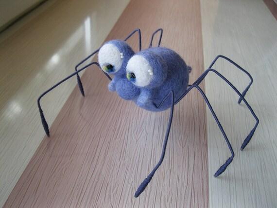 Spider MADE to ORDER Needle felted spider Soft sculpture, Wool figurine, Handmade plushie OOAK animal art doll