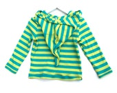 Stripy green hoodie limited edition colorful pixie toddler top t shirt  forest yellow blue mint candy sweater kids jumper