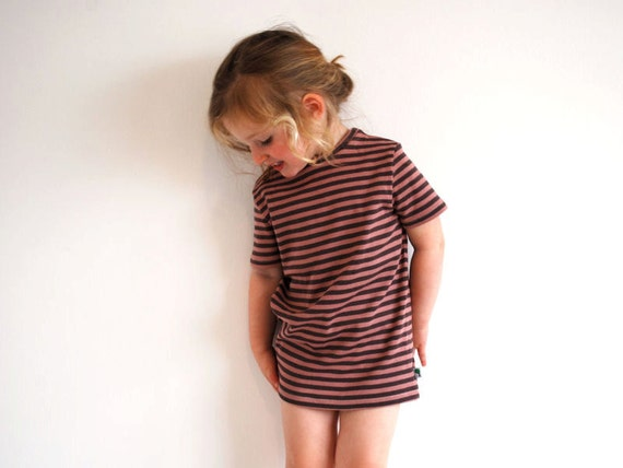 RESERVED LISTING for Candy - Raspberry Mango and Coconut long beach t shirts size 3-4yrs