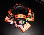 Over the Top Halloween Boutique Hairbow with Marabou