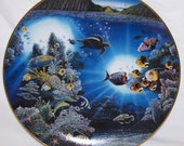 RESERVED Jaimi-Danbury Mint -3 Underwater Paradise plates collection