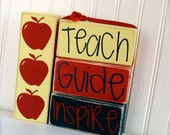 Teach, Guide, & Inspire with Apples Stacker Set... Perfect Teacher Gift