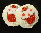 Cupcake Pasties - Sequins and roses - Burlesque
