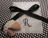 Wedding favor custom fortune cookies black and white