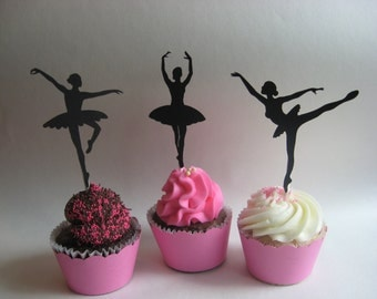 Ballerina Cupcake Wrappers & Toppers